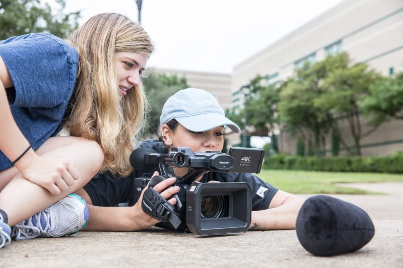 ACC students learning television production